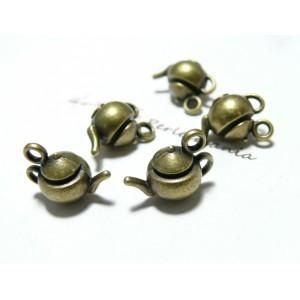 10 pieces bronze théières 3D N2D1762