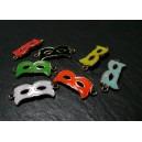 1 pendentif connecteur masque orange