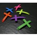 1 pendentif connecteur croix violet