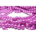 20 perles de verre nacre rose 10mm ref MM114