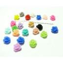 10 cabochons petites fleur Résine  ref Z81Y Fleur mulit
