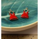 Lot 2 pieces Sexy  pendentif petite robe rouge