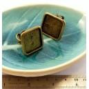 4 pieces Bronze Grande bague carré