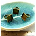 4 pieces Bronze 16 par 16 mm square rings