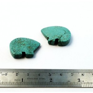 2 pieces Big Turquoise Bear