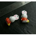 Lot 2 pieces figurine MR Lapin
