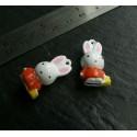 Lot 2 pieces figurine MR Lapin