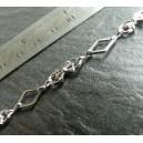 1 Mètre Silver Chaine A