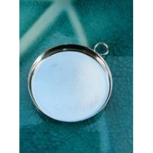10 Supports de pendentif 23mm brod epais PP attache ronde