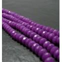 10 perles Jade violet faceté rondelles 5*8mm