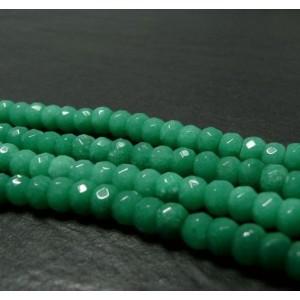 6 perles Jade vert pomme facetté rondelles 5*8mm