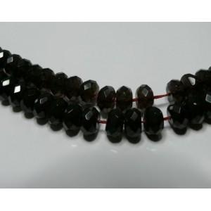 2 perles topaze rondelles facetée  12*8mm