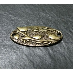 2 pieces Oiseau bronze connecteurs/ links