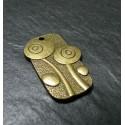 1 piece fleur Bronze pendentifs/breloque