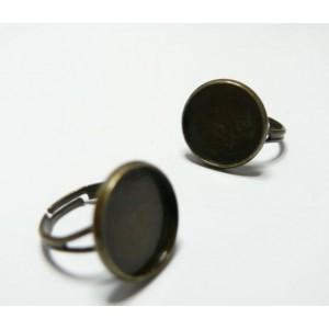 5 supports de bague bronze 16mm