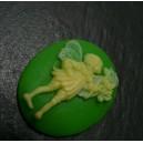 1 cabochon Résine Melle ange vert