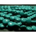 Lot 8 pieces perles plates d' hawolite bleu turquoise 12mm