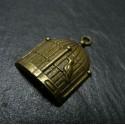 1 pieces Bronze cageet oiseau