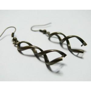 2 Supports de Boucle d'oreille bronze spirale