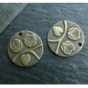 5 pieces bronze chouette ronde