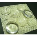 10 pieces cabochon en verre 20mm