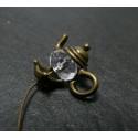 1 piece breloques théières bronze