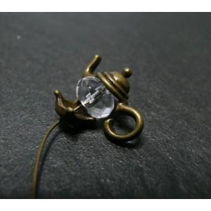 15 pieces breloques théières bronze