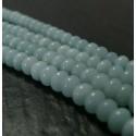 10 perles Amazonite bleu ciel rondelles 4par 6mm