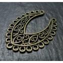1 Support de pendentif retro ovale