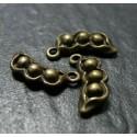 1 Support de pendentif petit pois bronze