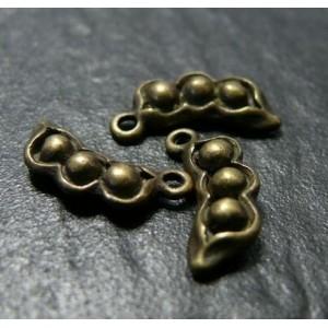 2 Support de pendentif petit pois bronze