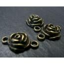 1 Support de pendentif connecteur bronze Ma rose