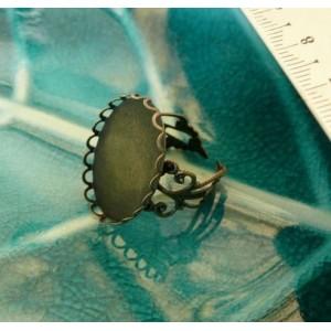 10 Supports de bague 13 par 18mm vague bronze anneau dentelle