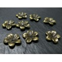 6 pendentifs bronze fleurs