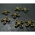 10 pieces bronze pendentif multi connecteurs