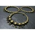 8 pieces bronze pendentif créoles
