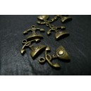 2 pieces bronze telephones