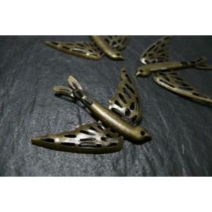 appret bijou 2 pieces bronze Oiseau