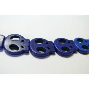 Lot de 10 moyens crane plat 20 par 21mm bleu electrique