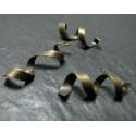5 breloques bronze Tourbillons