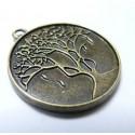 2 Magnifique breloque bronze Arbre rond