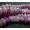 10 perles agate rose ovale plate 5 par 8 mm A
