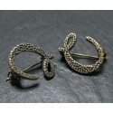 2 pieces Broche reptile