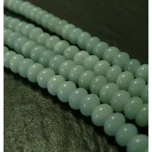 10 perles Amazonite bleu ciel rondelles 5 par A