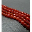 10 perles cornaline facetée 6mm