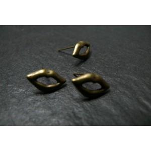 2 paires de Boucles d'Oreille Bronze bouche