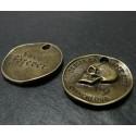 4 piece breloques crane bronze