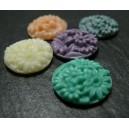 1 piece Cabochon Multi Fleur 20mm  resine  Lilas