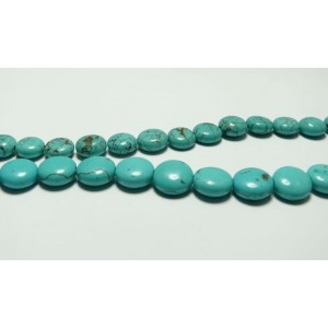 Lot 8 pieces perles Turquoise plat A