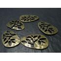 2 pieces bronze pendentif arbre zen A
